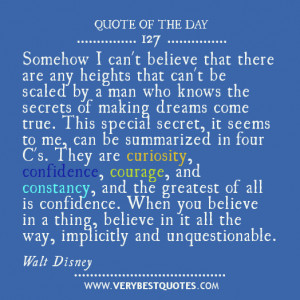 Motivational Quote Of The Day by Walt Disney