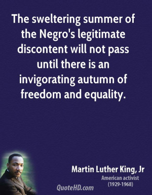 ... pass until there is an invigorating autumn of freedom and equality