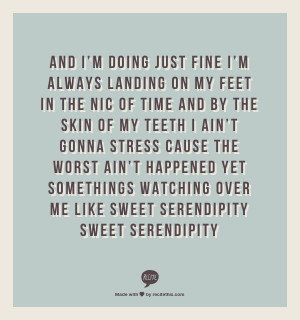 Sweet Serendipity- Lee Dewyze