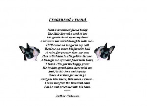 My friends dog passed away today and this is what I shared with him to ...