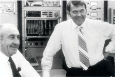 David Packard (left) and William Hewlett (right) with Hewlett-Packard ...
