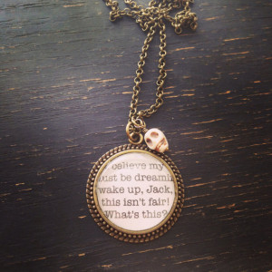 ... before christmas jack skellington quote necklace with skull charm