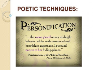 Personification Poems Personification in poetry
