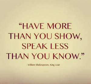 Shakespeare Quote from King Lear