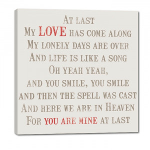 Etta James - At Last My Love as Come Along Wall Decor Sign STOCK 20X20 ...