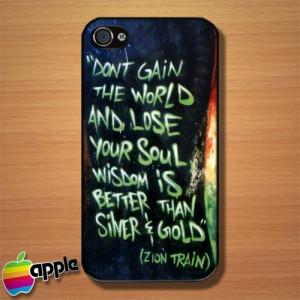 Bob Marley Quotes The Legendary Reggae Music Rastafarian iPhone 4 Case ...
