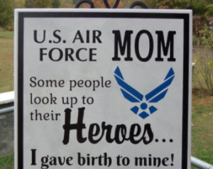 AIR FORCE Mom Pride - Hero Plaque - Airman Son - Airman Daughter - Air ...
