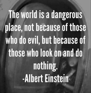 Albert Einstein had it right. There's so much work to be done in the ...