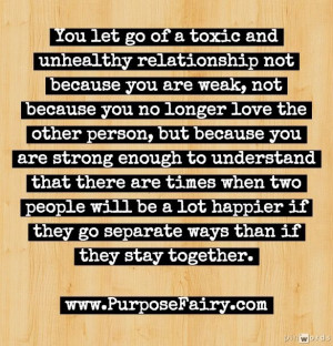 Letting go of toxic relationships >>> http://www.purposefairy.com ...