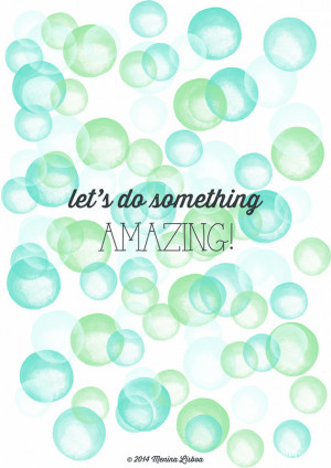 Quote Print, Nursery Decor, Girl's Room Wall Art, Bubbles ...