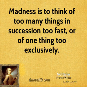 Madness Think Too Many Things Succession Fast