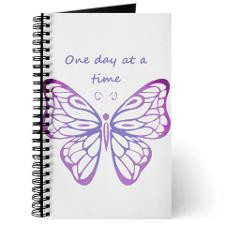 One Day at a Time Quote Butterfly Art Journal for