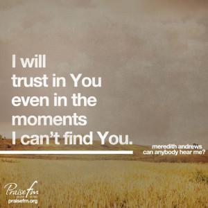 Let's trust God!