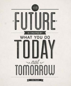 Motivational Typography Robert Kiyosaki Quote
