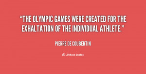 Pierre De Coubertin Quotes