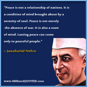Peace Is Not A Relationship Of Nations