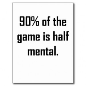 The Game Half Mental Postcard