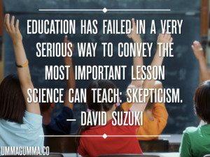 Skepticism in the classroom
