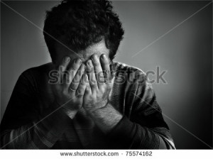 sad man sad man sad man black white photo 02 www dreamstime