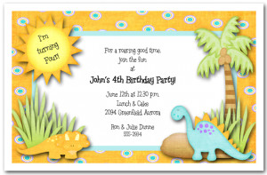 Printable Dinosaur Birthday Invitation