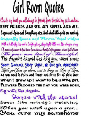 Girl Room Quotes