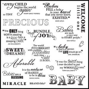 Clear Stamp Set - Precious Baby Quotes