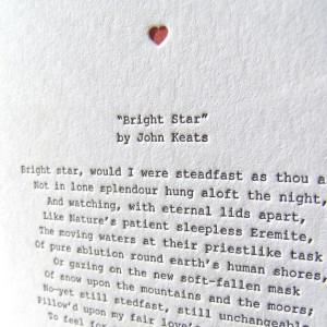 Letterpress Note Card - Love Poetry (Keats), $4.50