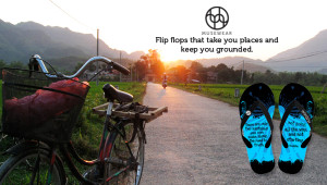 Flip flops with inspirational quotes