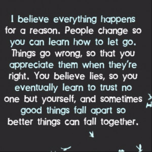 things happen for a reason