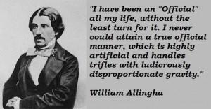 William allingham famous quotes 1