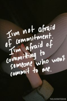 Commitment phobia help