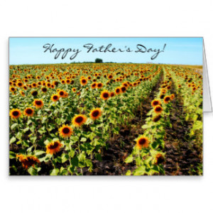 Sunflower Father's Day Bible Quote Christian Cards