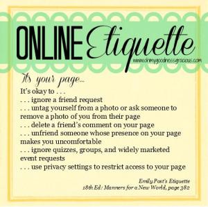 Online Etiquette #charm #etiquette www.charmetiquette.com