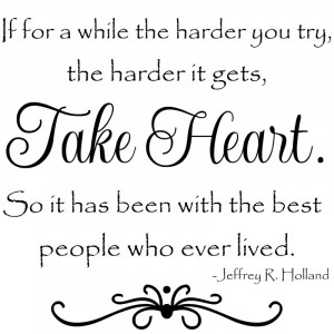 Elder Holland quotes for 12x12 tiles