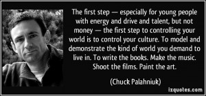 not money — the first step to controlling your world is to control ...