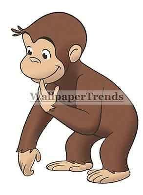 ... Curious George PBS Kids Monkey Vinyl Wall Decal Sticker Nursery Decor