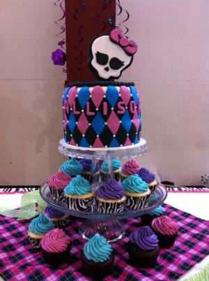 monster high birthday cupcakes
