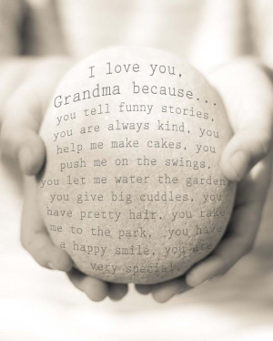 Personalised I love you Grandma Print, Nanny Quote Print, Mothers Day ...