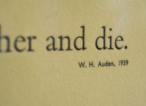 Auden Quote Slide