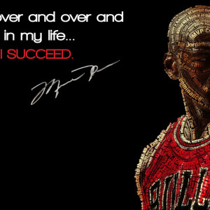 Quotes, Basketball, Michael Jordan, Succes...