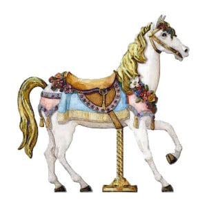 carousel horse liked on Polyvore