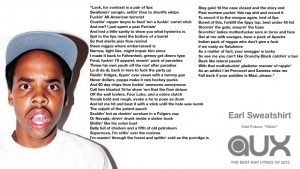 Earl Sweatshirt Quotes Welcome back, earl.