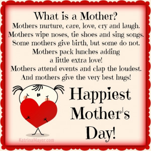 Happiest Mother's Day! - Would not have become remotely what I am ...