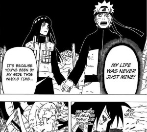 Naruto thanked Hinata for being at his side for only that moment, not ...