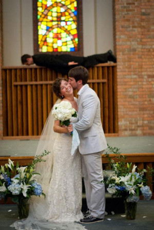 funny wtf wedding photo priest planking
