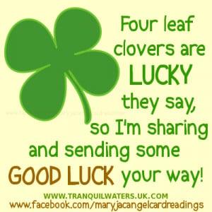 ... well, lucky butterfly, lucky fairy, 4 leaf clover, four leaf clover