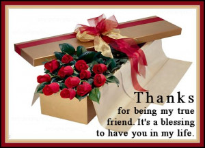 ... Friend It's A Blessing To Have You In My Life - Friendship Quote