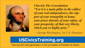 cards with quotes from Thomas Jefferson and George Washington ...