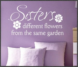 Vinyl Wall Lettering Family Quotes Sisters by WallsThatTalk. Love this ...