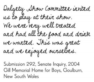 ... Submission 292, Senate Inquiry, 2004, Gill Memorial Home for Boys